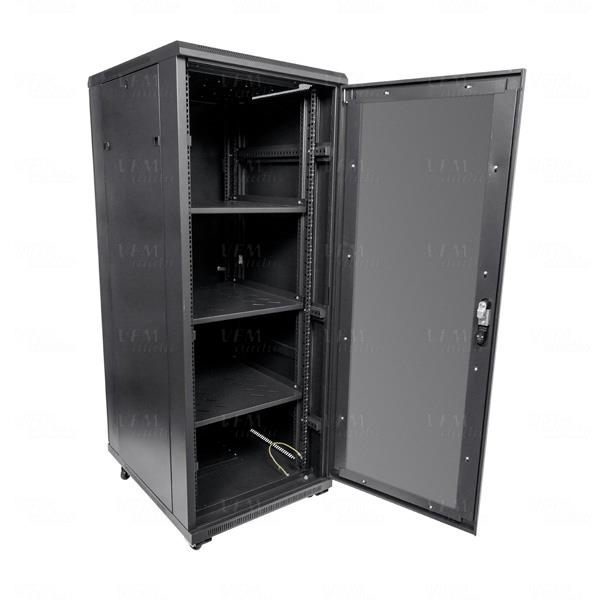 Titan av premium 19 32ru floor standing server rack for 10 deep floor cabinet